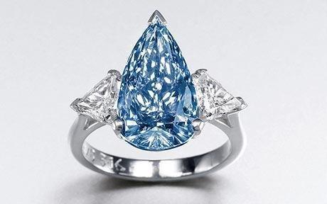 罕见蓝钻将在香港拍卖 估价400万英镑