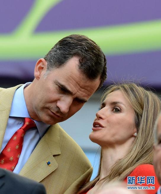 (欧锦赛)(2)足球——欧锦赛:西班牙王子王妃齐赴现场助威
